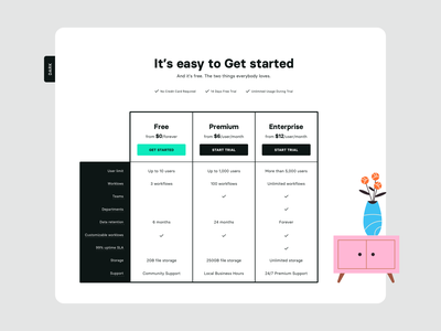 Pricing - Light and Dark mode template pricing table pricing page dark mode dark light pricing plan pricing illustration design ux ui