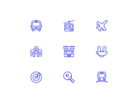 Transport & Sport icons