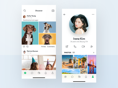 WeChat Discover and Profile wechat profile design discover profile design mobile concept app ux ui