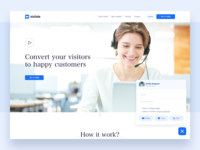 Landing page for Communication tool