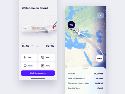 Dashboard for Passenger ui ux app concept mobile design navigation map iphone passenger dashboard dashboard ui airlines airport on board