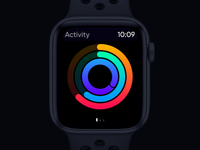 Apple Watch Activity gradient design statistic graph activity watch ui watch gif ae animation app ux ui