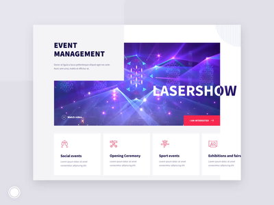 Event Agency Website Design intraction effects hero banner offers about us testimonials video event agency layout web  design ux ui gif ae design