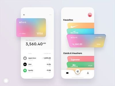 Debit cards and loyalty cards iphone transactions transaction pay customer banking app banking bank card design cards ui cards card loyalty card loyalty mobile concept design app ux ui