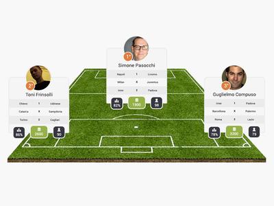 Nextwin next win field soccer user player green flat design web ui ux