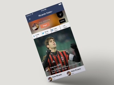 Sokker.me Player profile profile soccer sokker.me player ui ux ios app mobile