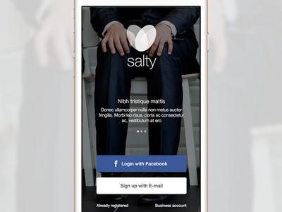 Splash screen signup app iphone facebook login register user splash screen ios mobile