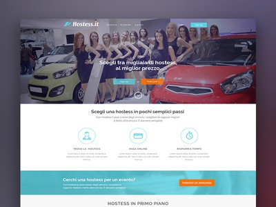 """Landing Page - """"Hostess' Concept web design user experience user interface ux ui landing page interface design concept clean"""