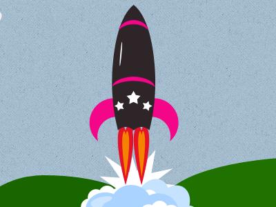 Start-up missile startup missile bullet business icon startup symbol