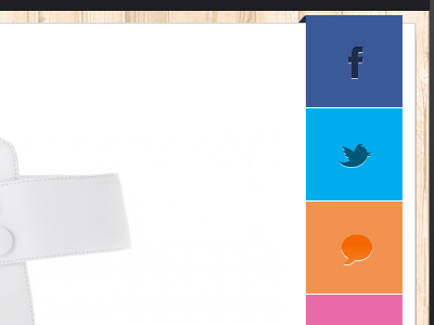 Social Button on App social button fb button twitter button app iphone
