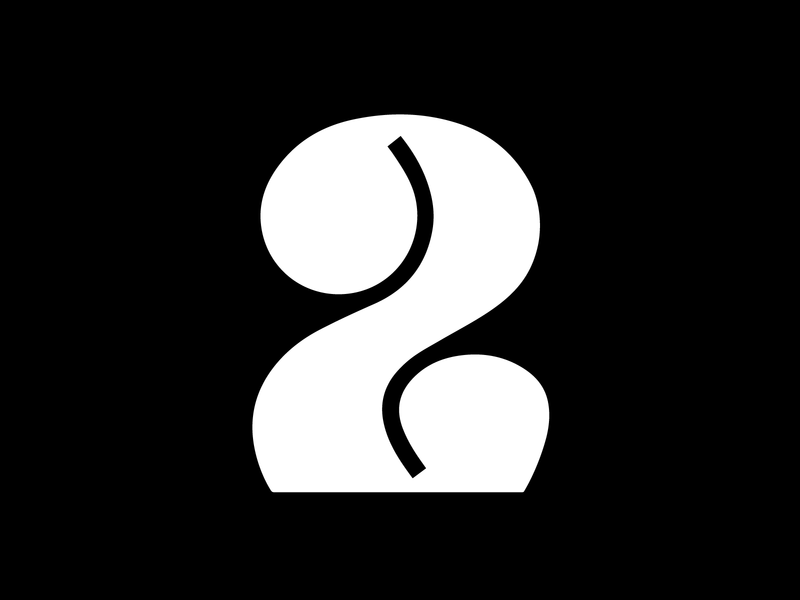 Number 2 challenge visual number chunky bold vector graphic design 36 days of type typography adobe illustrator