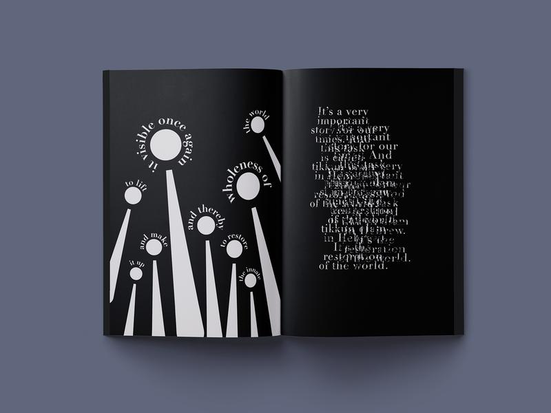 Birth of the World (4/6) typography storytelling visual illustration booklet adobe illustrator editorial design graphic design