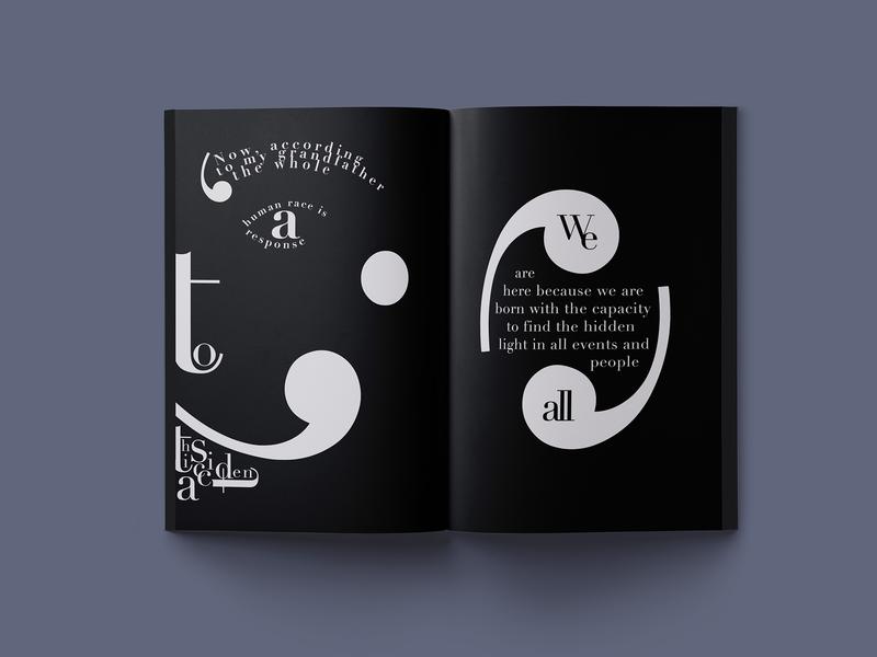 Birth of the World (3/6) storytelling visual typography illustration booklet adobe illustrator editorial design graphic design