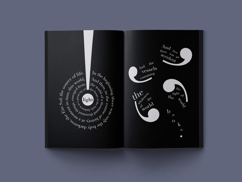 Birth of the World (1/6) visual typography storytelling booklet illustration adobe illustrator editorial design graphic design
