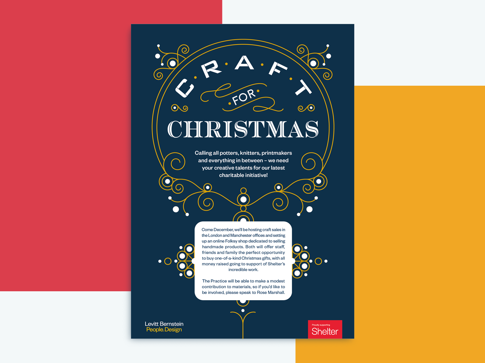 Craft for Christmas Poster christmas poster poster design typography lettering adobe illustrator graphic design