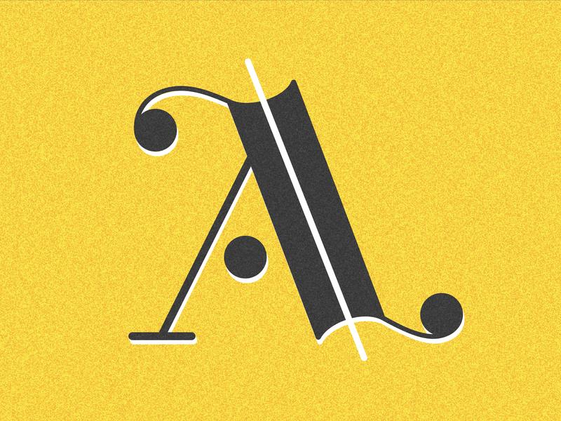 Letter A typography vector drop cap 36 days adobe illustrator type design type challenge lettering letter a 36 days of type 36days