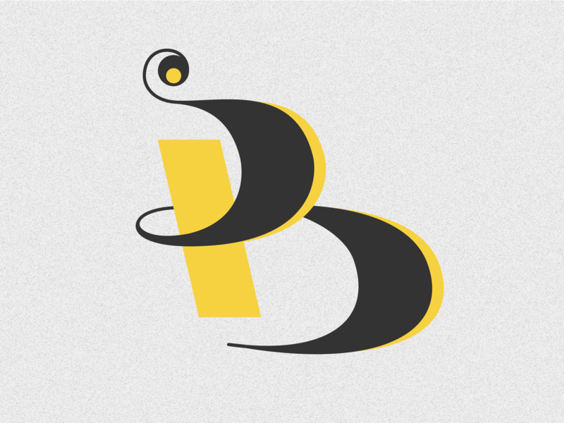 Letter B design challenge drop cap type vector typography adobe illustrator letter b lettering 36days 36 days of type 36 days