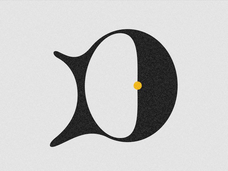 Letter D vector challenge adobe illustrator type typography design drop cap lettering letter 36daysoftype-d 36days 36 days 36 days of type
