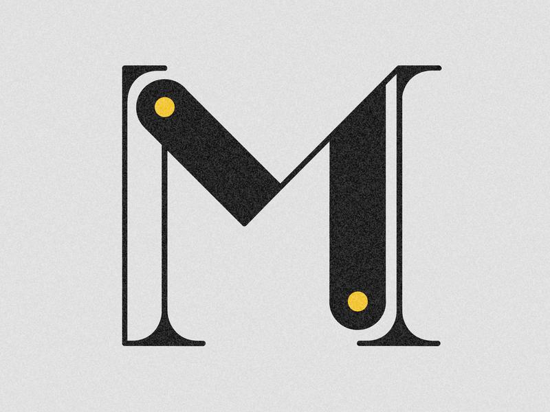 Letter M visual 36days booklet drop cap 36 days challenge 36 days of type lettering design adobe illustrator