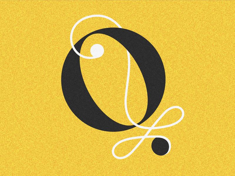 Letter Q 36days vector lettering drop cap 36 days challenge 36 days of type adobe illustrator