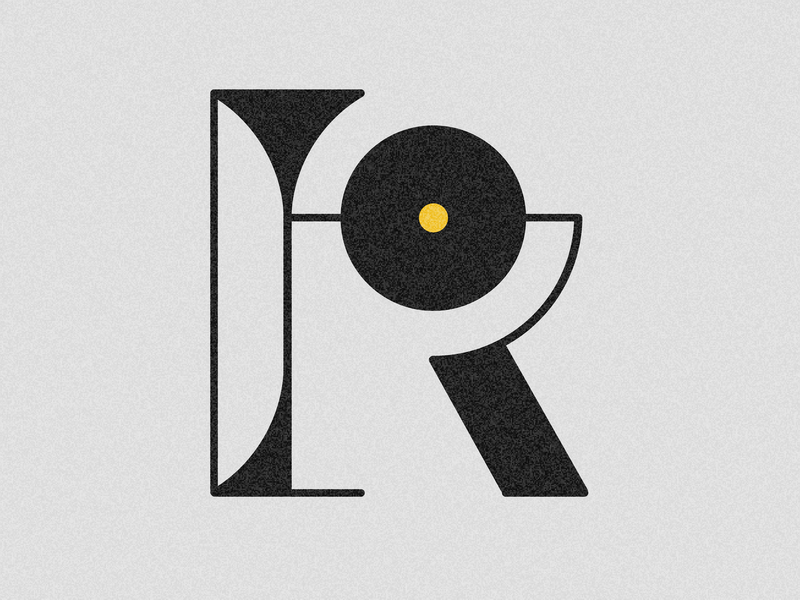 Letter R visual illustration vector drop cap 36 days challenge design 36 days of type adobe illustrator lettering