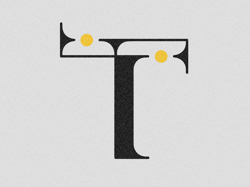 Letter T design visual 36days vector typography drop cap 36 days challenge lettering 36 days of type adobe illustrator