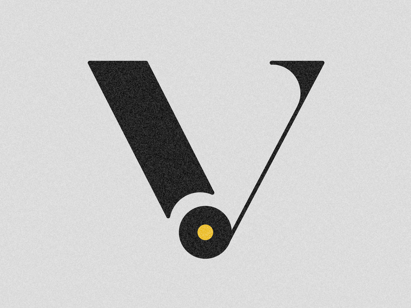 Letter V visual 36days vector typography challenge drop cap 36 days 36 days of type lettering adobe illustrator