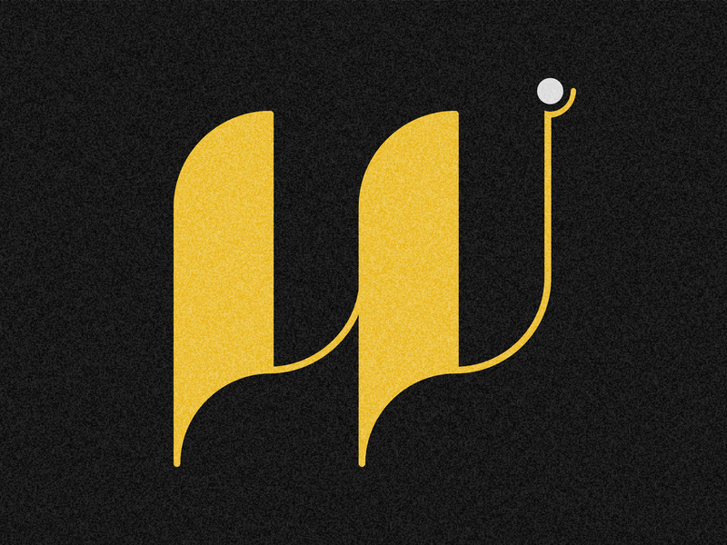 Letter W design visual 36days typography drop cap 36 days challenge 36 days of type lettering adobe illustrator