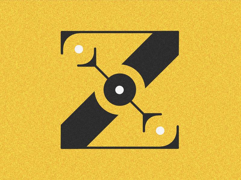Letter Z visual 36days vector typography drop cap design 36 days challenge lettering 36 days of type adobe illustrator