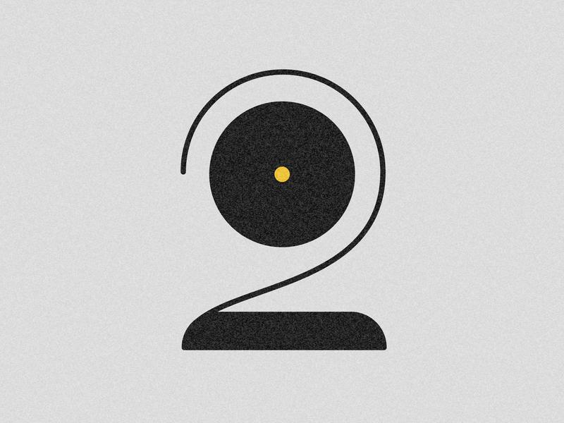 Number 2 visual 36days vector typography drop cap design 36 days challenge 36 days of type lettering adobe illustrator