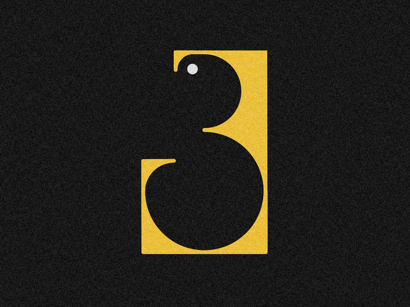 Number 3 visual 36days vector typography drop cap design 36 days challenge 36 days of type lettering adobe illustrator