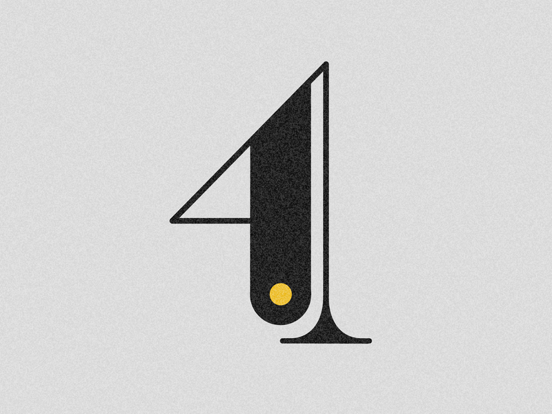 Number 4 visual 36days vector typography drop cap design 36 days challenge 36 days of type lettering adobe illustrator