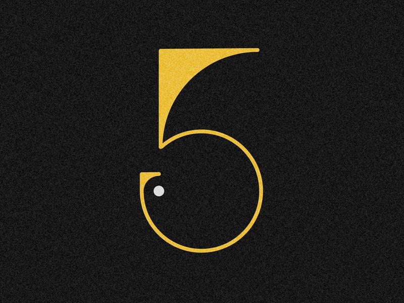 Number 5 visual 36days vector typography drop cap design 36 days challenge 36 days of type lettering adobe illustrator
