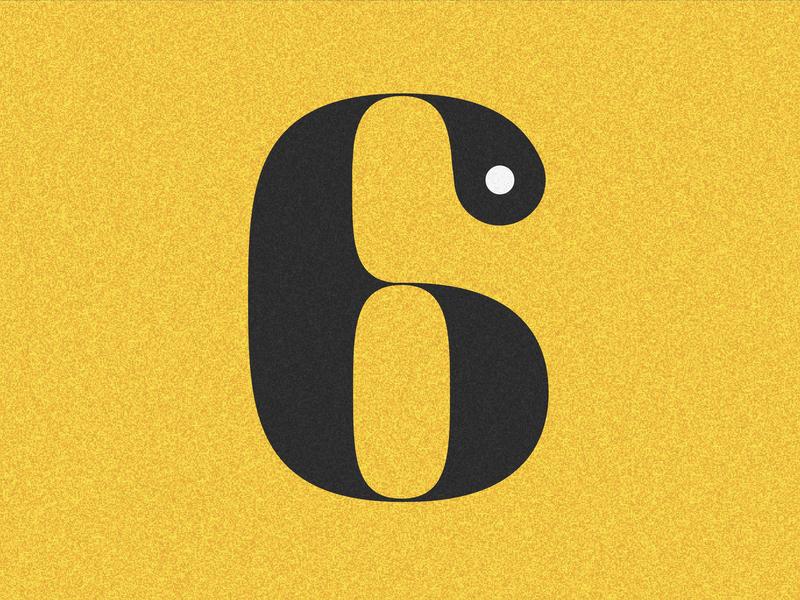 Number 6 visual 36days vector typography drop cap design 36 days challenge lettering 36 days of type adobe illustrator