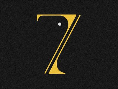 Number 7 visual 36days vector typography drop cap design 36 days challenge lettering 36 days of type adobe illustrator