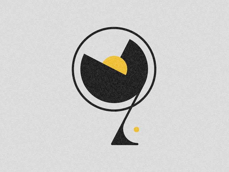 Number 9 visual 36days vector typography drop cap design 36 days challenge 36 days of type lettering adobe illustrator