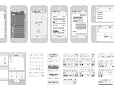 Free iPhone Vector Wireframing Toolkit ios7 wireframing toolkit template vector illustrator free iphone