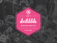 Boston Dribbble Meetup boston dribbble meetup raizlabs massachusetts logo hexagon