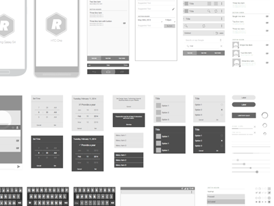 Free Android Vector Wireframing Toolkit By Michelle