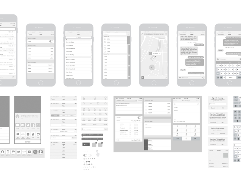 Free IPhone 6 Vector Wireframing Toolkit IOS 8 By Michelle