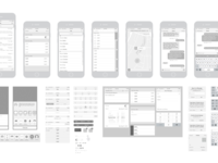 Free iPhone 6 Vector Wireframing Toolkit (iOS 8) iphone 6 vector wireframes wireframing wireframe toolkit free ios 8 template iphone
