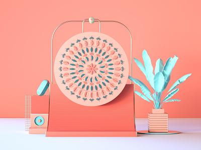 3D Mandala Exploration shapes design illustration mandalas blender cgi setdesign artwork 3d c4d cinema4d