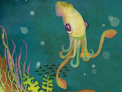 Squid dribbble