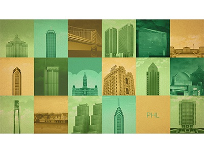 PHL Project Wallpaper philadelphia philly architecture illustration vector pattern