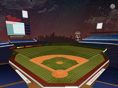 Citizens Bank Park citizens bank park philadelphia phillies baseball vector illustration sky sports