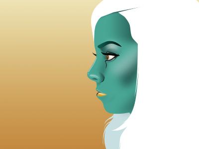 Amanda illustration portrait vector gradient