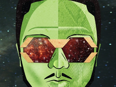 Shabazz shabazz palaces galaxy vector space gold snake