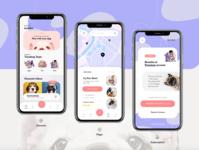Pet App 🐾 mobile app design uidesign ui design animal design app design application app pet app pets pet