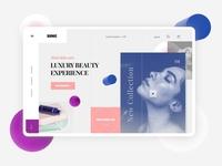 Bionic - Beauty Website ecommerce design ecommerce lotion pastel website design desktop design beauty product beauty desktop ui branding invision design