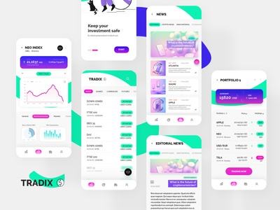 Trading App Starter Kit (Free!) ui invisionstudio sketch light mode dark mode mobile app figmadesign adobe xd mobile design app trading trading app starter kit